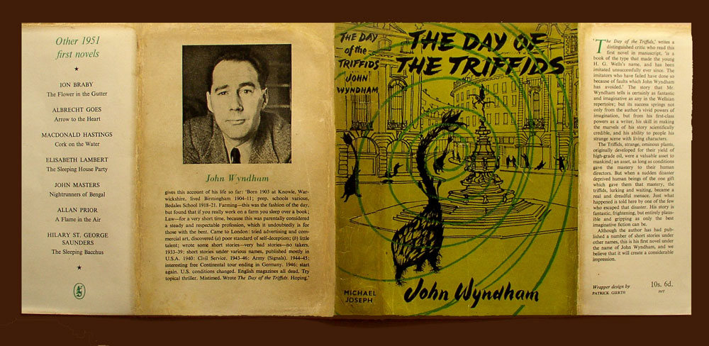 Day of the Triffids dust jacket restoration after