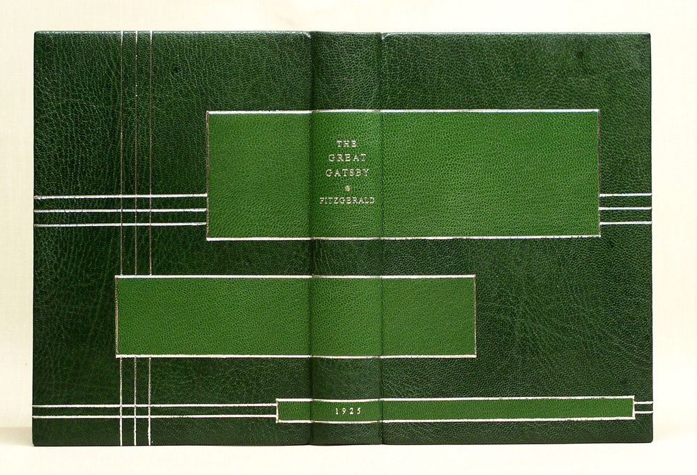 An Art Deco inspired design binding for The Great Gatsby.