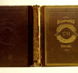 leather bookbinding before restoration