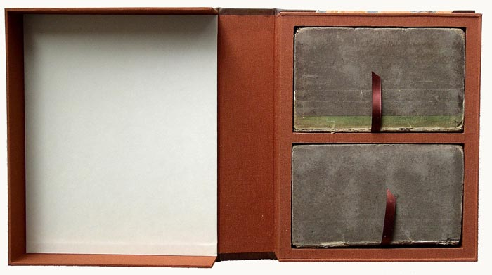 The interior of the Byron drop spine box.