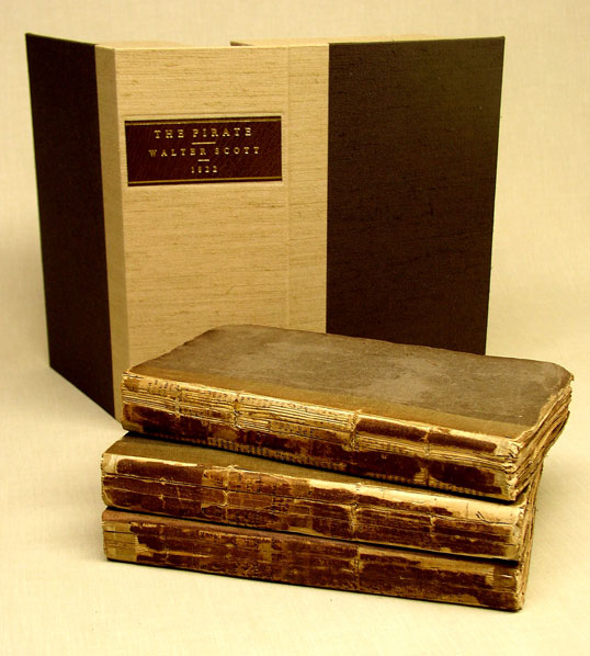 The books have been stabilized, preserving the original publisher's bindings. A drop spine box was made to protect them.