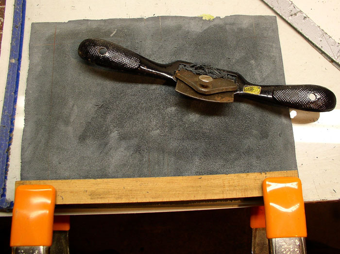 Backparing the base leather
