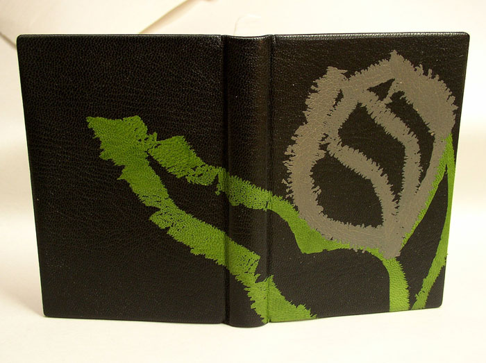 base leather applied to the book.