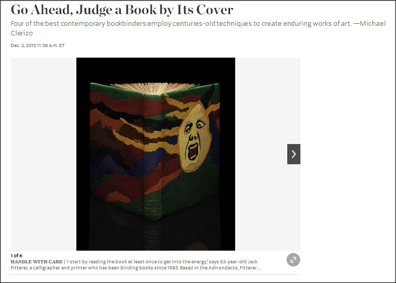 Wall Street Journal, design binding, bookbinding, Jack Fitterer