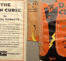 Dain Curse dust jacket before restoration