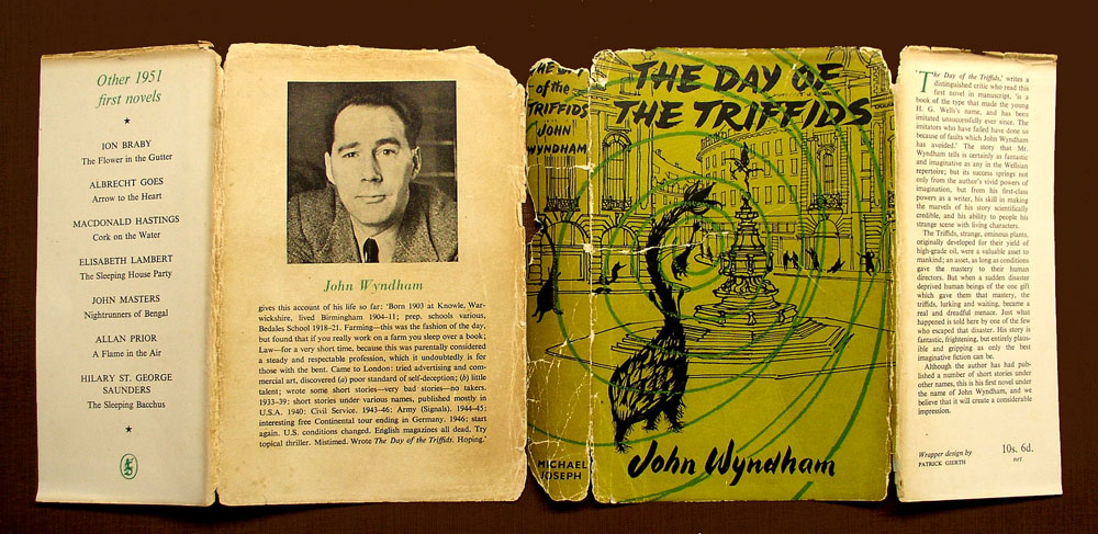 Day of the Triffids dust jacket  restoration before.