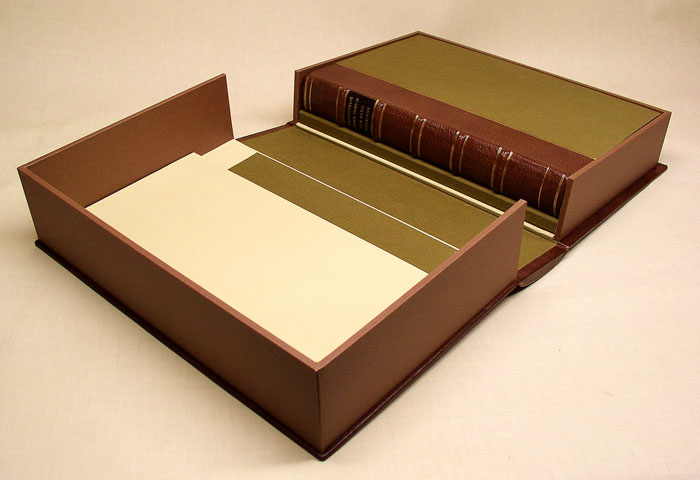 drop spine box opened to show auxiliary storage