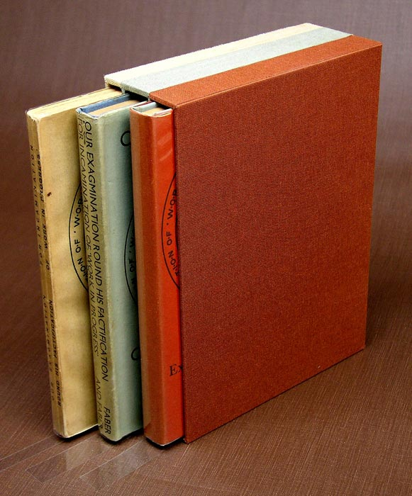 A slipcase constructed to hold three related volumes.