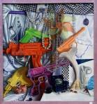 Cute Guns, oil on canvas, copyright Taff Fitterer