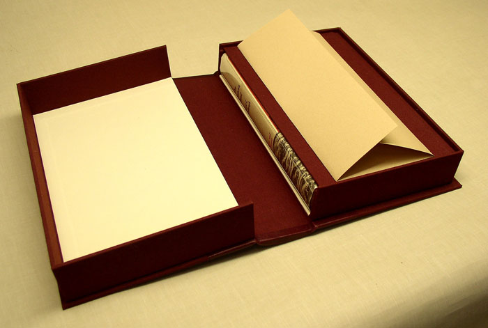 drop spine box with folder for letters