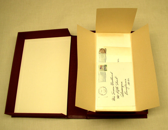 drop spine box with authograph letters